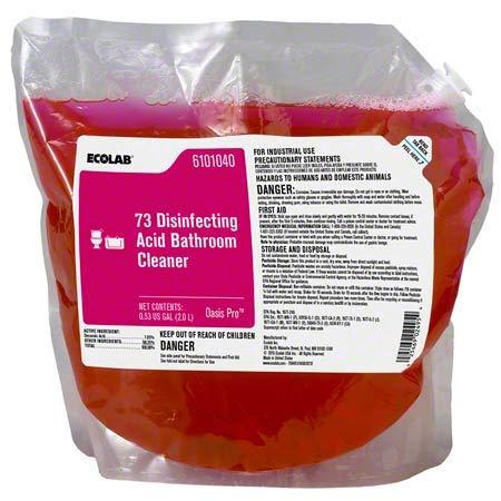 ECOLAB 6101040 Oasis Pro 73 Disinfecting Acid Bathroom Cleaner 2L Bag/Bladder - One(1) Bag/Bladder Per Order