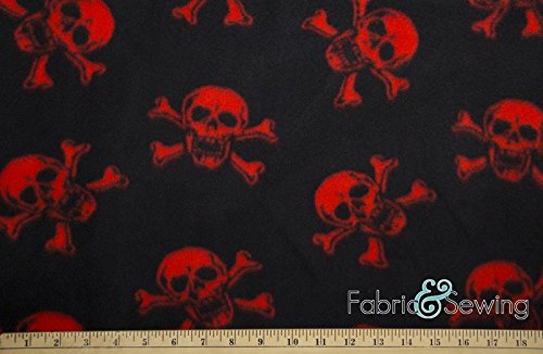 Skulls & Bones Anti-Pill Polar Fleece Fabric Polyester 13 Oz 53
