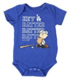 MLB Los Angeles Dodgers Baby Boys Infants Peanuts Love Baseball Creeper, Blue