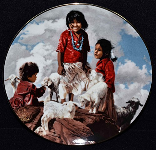 Ray Swanson Collectors Plate - The Proud Nation UP in The RED Rocks Navajo Native American Little Girl c1988
