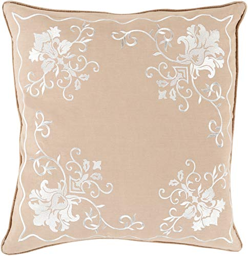 Rug Inspiration Medallions & Damask Pillow Cover Only Square 18