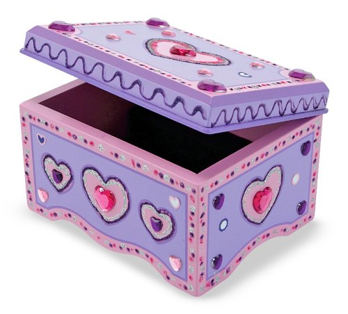 Amazoncom Melissa Doug DecorateYourOwn Wooden Jewelry Box With