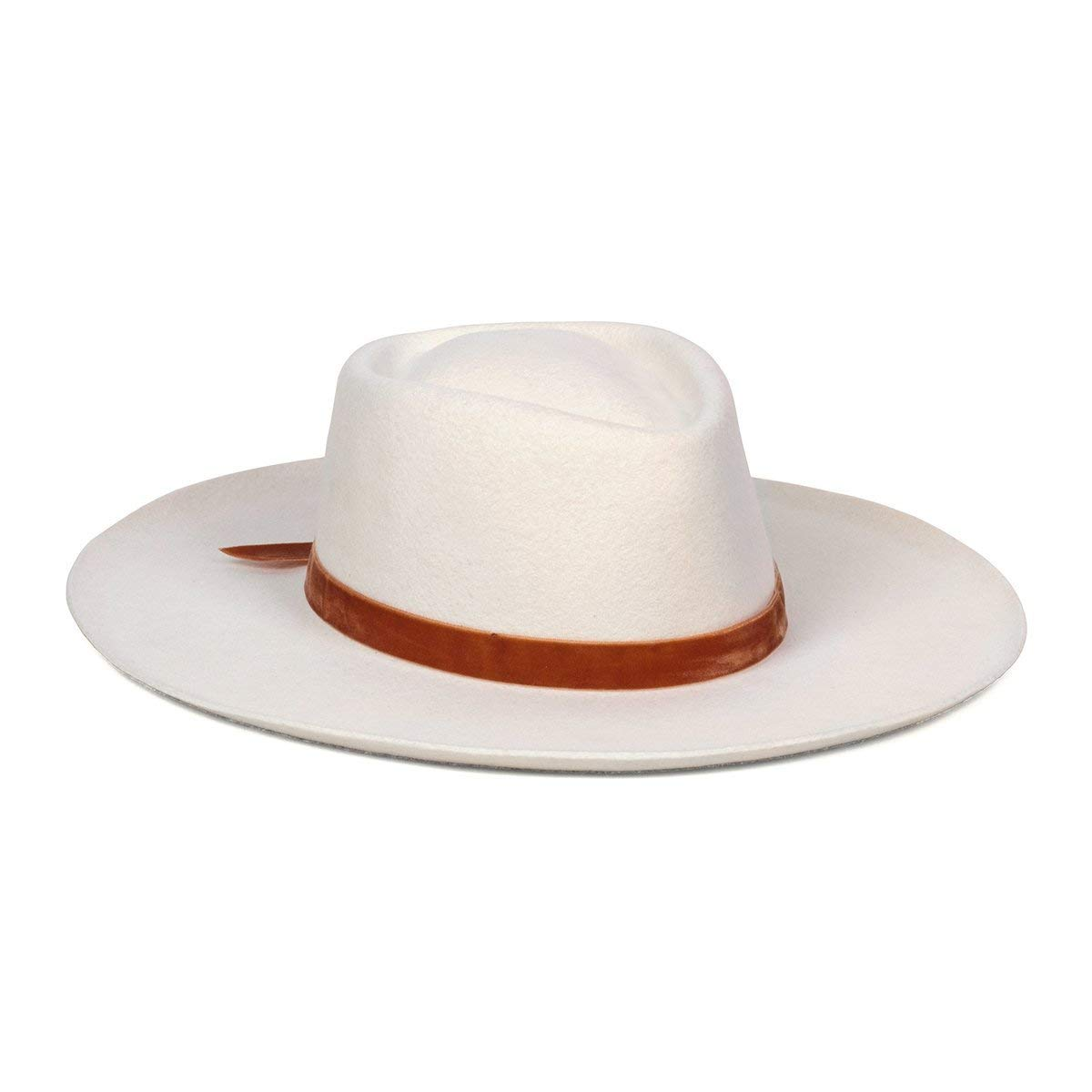 Lack of Color Unisex Val Diamond Wool Fedora (Off-White, Small (55 cm)) by Lack of Color