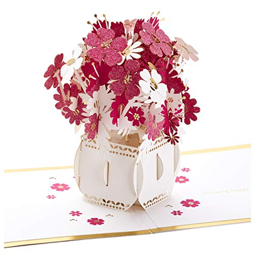 (Hallmark Signature Paper Wonder Pop Up Card, Happy Thoughts Bouquet (Thinking of You Card, Birthday Card, Mother's Day Card))