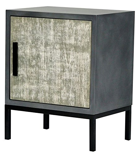 Heather Ann Creations The Nova Collection Modern Style Wooden Entry Way Single Door Living Room Accent Cabinet, Grey -