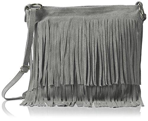 Girly Handbags Daniela, Sac Bandoulière Gris (Light Grey)