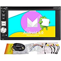 EinCar Double Din Android 6.0 GPS Car Stereo In Dash Navigation 6.2 Inch Touch Screen Car Radio Bluetooth Vehicle DVD Video Receiver Support 1080P/WiFi/Screen Mirror-Link