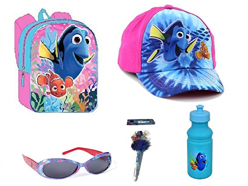 Disney Finding Dory Backpack, Baseball Cap, Sunglasses, Water Bottle, Pom Pom - Michelle Sunglasses