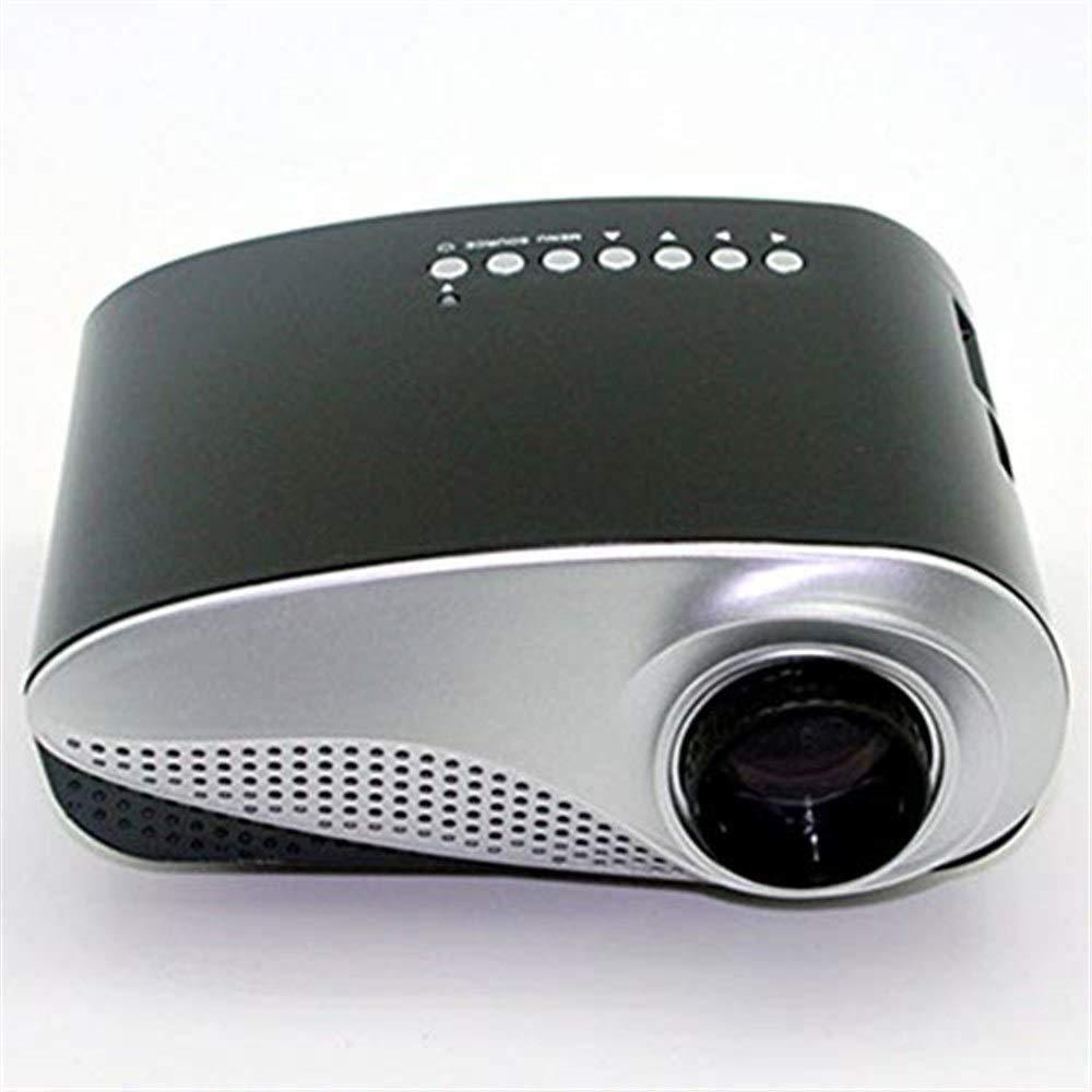 プロジェクター ミニプロジェクターミニポータブルマルチメディアLED、1080 pのHD再生、ホームシアターのサポート、VGA付きの会議室のコンピュータUディスク、HDMI、TVインターフェース ミニプロジェクター B07R7L4KXX