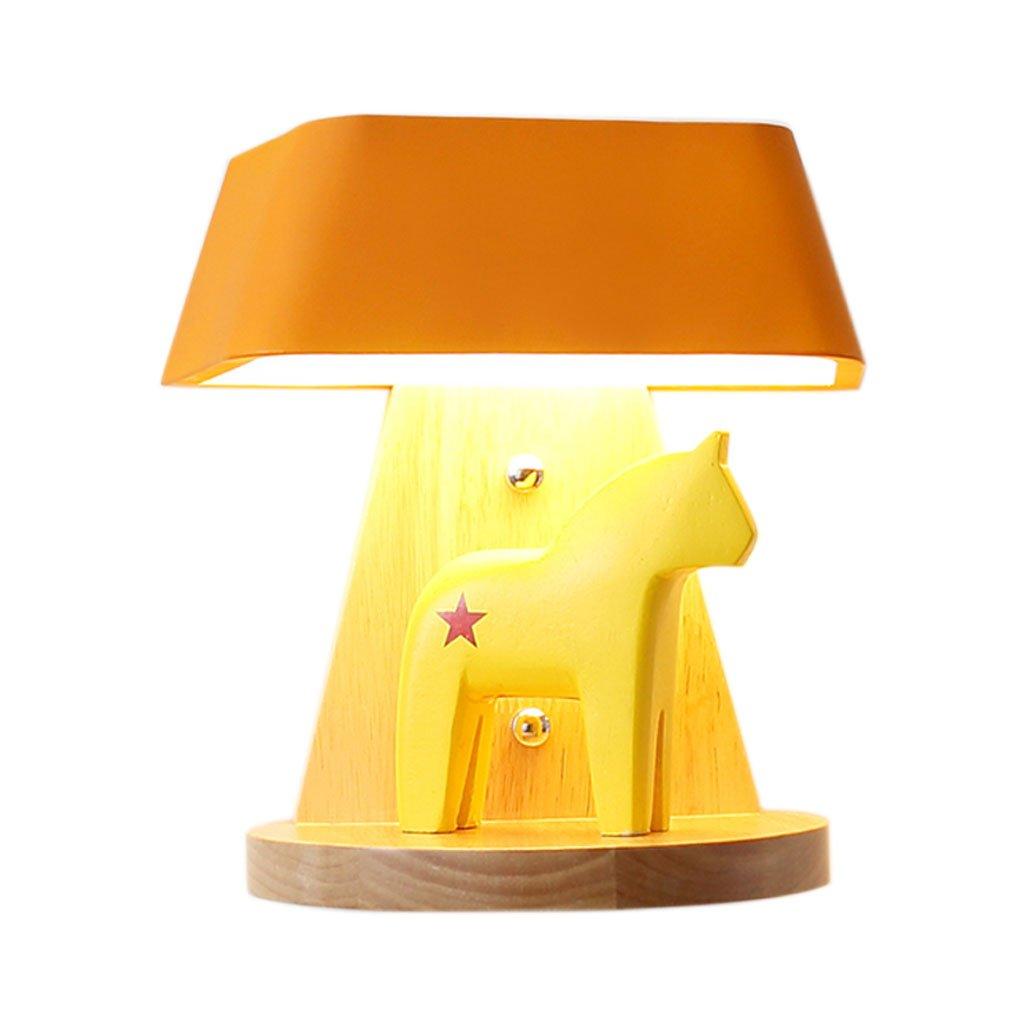 QIQIDEDIAN LED Schlafzimmer Wandleuchte Einfache Moderne kreative Kinderzimmer Wohnzimmer Lampe (Farbe : Orange)