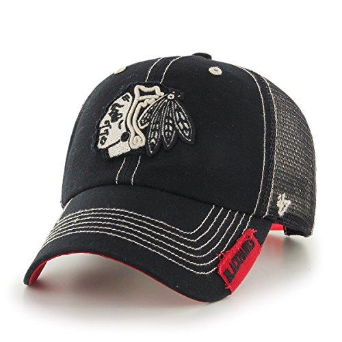 Philadelphia Flyers Mens Classic Jacket - '47 NHL Chicago Blackhawks Turner Clean Up Hat, One Size, Black