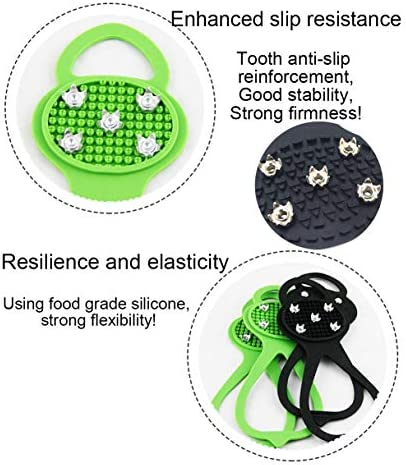 HMMA Universal Non-Slip Gripper,Spikes Anti-Slip Over Shoe Durable Cleats with Good Elasticity,for Easy to Pull On or Take Off