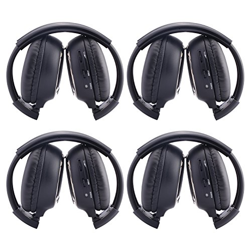 4 Pack of Two Channel Folding Universal Rear Entertainment S