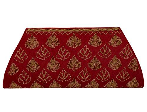 Spice Art - Cartera de mano de Otra Piel para mujer rojo Red
