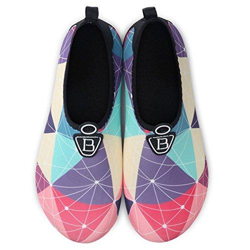 Sports Yoga Beach Hommes Chaussettes Piscine Barefoot Quick Nautiques Joinfree Surf Aqua De dry Pour Gomtrie Aquatiques Chaussures BwE1S4