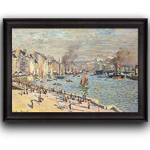 Port of Le Havre by Claude Monet Framed Art