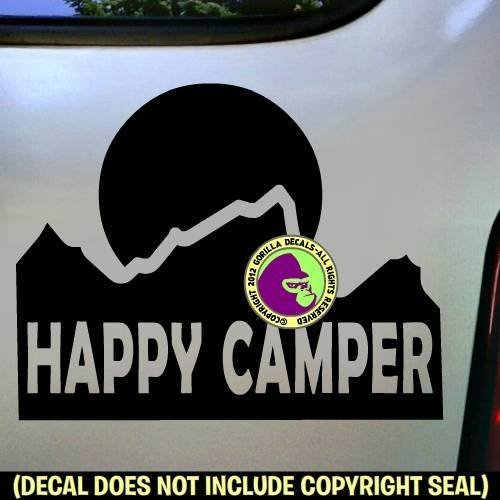 Mountain HAPPY CAMPER Vinyl Decal Sticker B