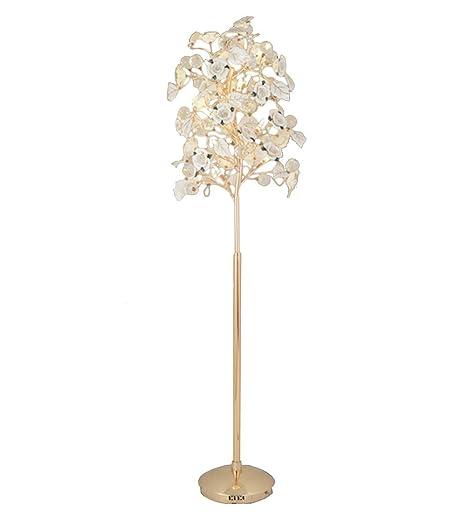Iluminación Lámpara de pie Postmodernista de Cristal Flor de ...