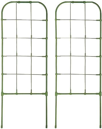 Enrejado de jardín de metal, 1 par de macetero de pared liviano - Macetero colgante, soporte de