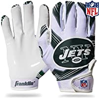 Franklin Sports Youth NFL Football Receiver Gloves - Receiver Gloves For Kids - NFL Team Logos and Silicone Palm - Youth Pair - Great for Games & Costumes