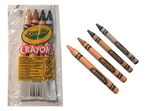 Crayola Multicultural Crayons 4 pack Cellophane Wrapped (10 packs - 40 crayons total)