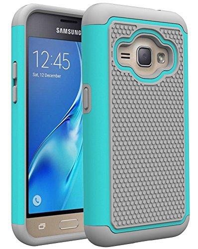 Slim Fit Hybrid Case for Samsung Galaxy J1 (White) - 1
