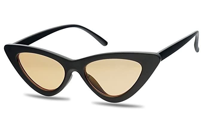 ad2d1519d6 Amazon.com  Women s Vintage Clout Cat Eye Goggles 90 s Small Narrow Lolita  Sun Glasses (Black Frame