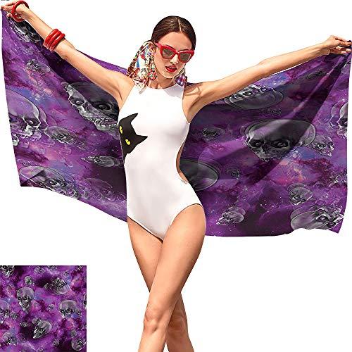 Jaydevn Skull Beach Towel Blanket,Horror Movie Thirller Themed