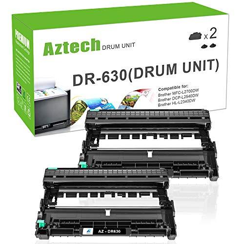 (AZTECH Compatible Drum Unit Replacement for Brother DR630 DR-630 Drum (Black, 2-Packs))
