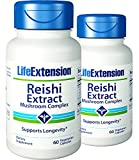 Life Extension Reishi Extract Mushroom Complex, Veggie Caps, 60 ea – 2pc Review