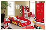 Product review for Kids Twin Size Platform Bed Frame, Construction Car Design 5 Pcs. Kids Bedroom Set