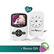 Baby Monitor Video with Camera by Baby Space - Premium Wireless Video 2.4  LCD Digital Screen Infrared Night Vision Temperature Monitoring Sensor 2 Way Talkback Extra Long Range Superb Battery life