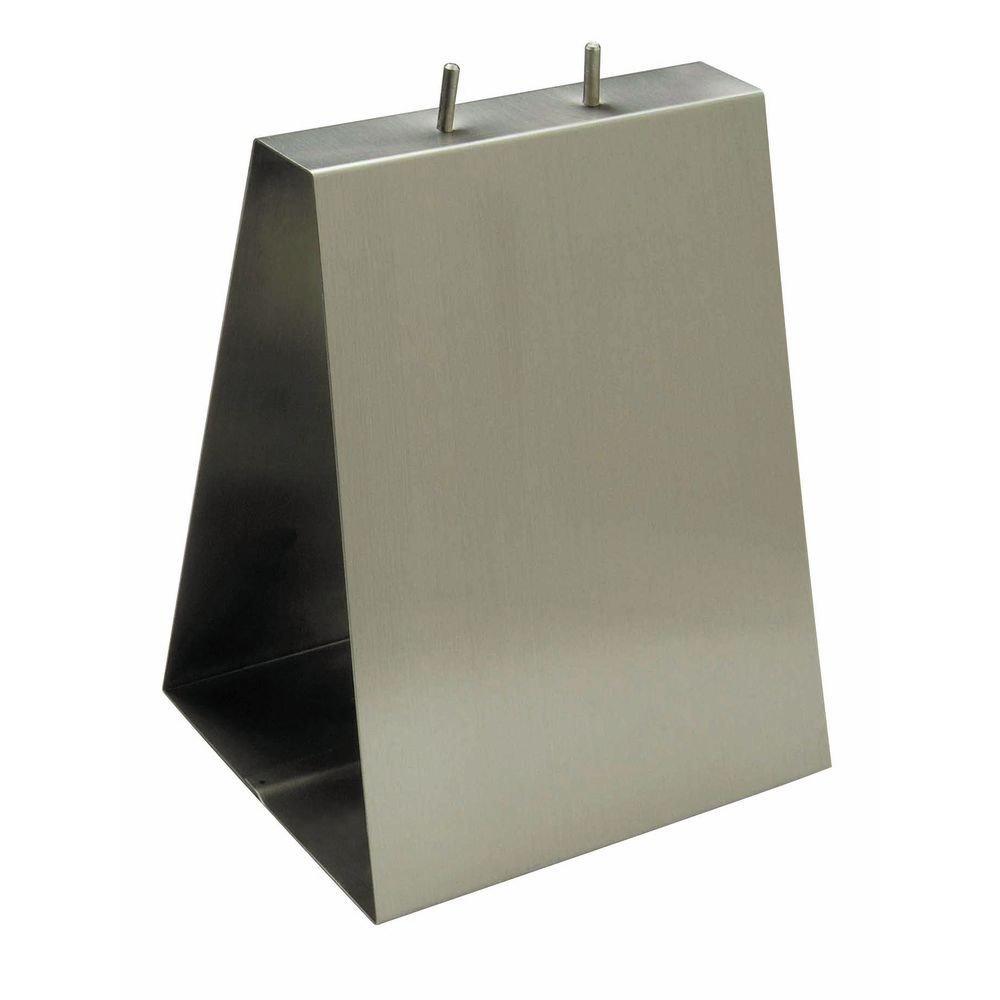 HUBERT Saddle Bag Dispenser Deli Bag Holder Stainless Steel - 9''L x 6''D x 11 1/2''H