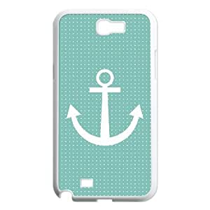 Samsung Galaxy Note 2 N7100 Phone Case White Anchor Pattern BWI1850853