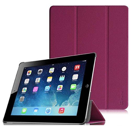 Fintie iPad 2/3/4 Case - Lightweight Slim Tri-Fold Smart Stand Cover Protector Supports Auto Wake/Sleep for iPad 4th Generation with Retina Display, iPad 3 & iPad 2 - Purple