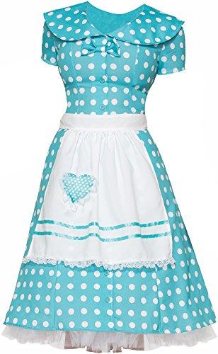 [Forum Novelties Women's 50's Housewife Costume, Blue, Medium/Large] (Fifties Halloween Costumes)