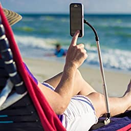 LEVO Stand for Compatible with all Smartphones - Non-Retail Packaging - Black & Silver