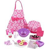 "Click N' Play CNP0255 Doll Baking Set with Apron and Chef Hat, Perfect for 18"" American Girl Dolls"