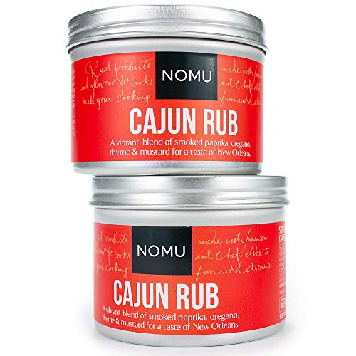 NOMU Cajun Seasoning Rub (2-Pack | 4.58oz) - Blend of 11 Herbs and Spices - Paleo, Vegan, Non-Irradiated, No MSG or Preservatives