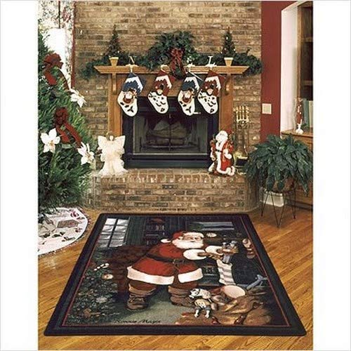 Milliken Holiday Collection Santa's Visit, 5'4'' x7'8 Rectangle, Kris Kringle by Milliken (Image #3)