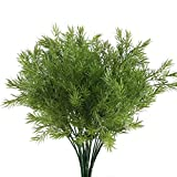 Nahuaa Fake Outdoor Plants, 4PCS Artificial Greenery Bush Faux Plastic Shrubs Table Centerpieces Arrangements Inddor Outdoor Home Kitchen Office Windowsill Spring Decorations