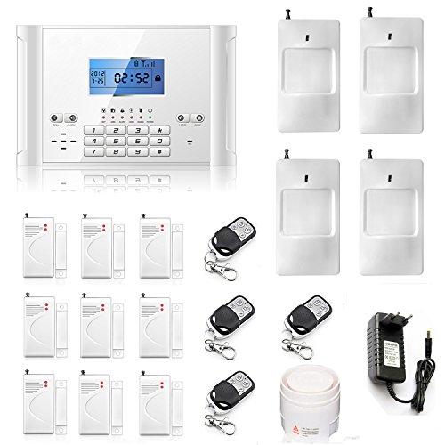 ABTO komplettes drahtloses GSM Home Security Alarmanlage als Einbruchschutz Sicherheit durch Bewegungsmelder und Türsensoren