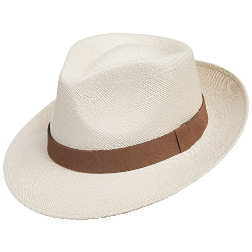 Genuine Havana CLASSIC Panama Straw Dress Hat Comfortable LEATHER HATBAND 6 7/8 by Ultrafino