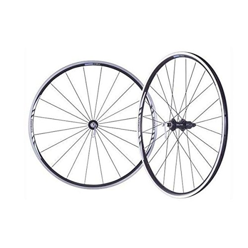 (Shimano 700C Alloy Clincher Road Bike Wheelset - WH-R501 - EWHR501PEBMY)