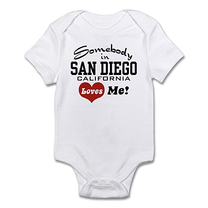 8f7113898 Amazon.com  CafePress - Somebody In San Diego Loves Me - Cute Infant ...
