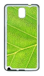 Samsung Note 3 Case Leaf Texture TPU Custom Samsung Note 3 Case Cover White