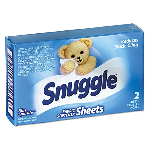 Vend-Design Fabric Softener Sheets, Blue Sparkle, 2 Sheets/box, 100 Boxes/carton by Snuggle