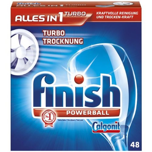 Calgonit Finish Powerball Alles in 1 Tabs, 1er Pack (1 x 48 Tabs)
