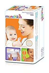 Munchkin Super Premium Diapers, Size 1/Small Ultra (8-14 Pounds), 176 Count