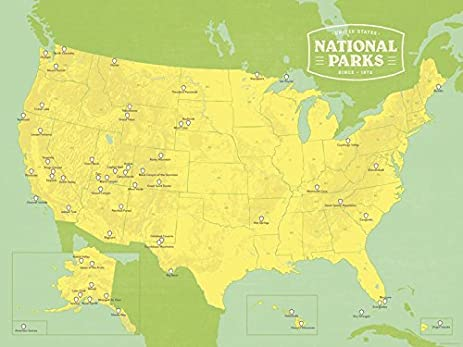 Amazon Map Of All Us National Parks And Monuments Us National - Us parks map